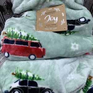 VW Holiday Plush throw by Berkshire New